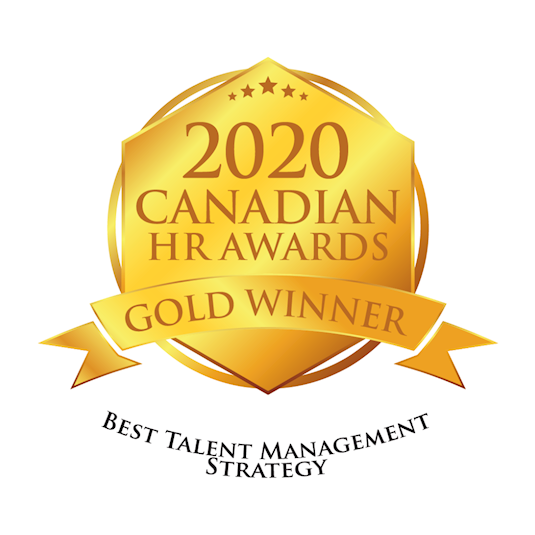 Logo: 2020 Canadian HR Awards - Gold - Best Talent Management Strategy