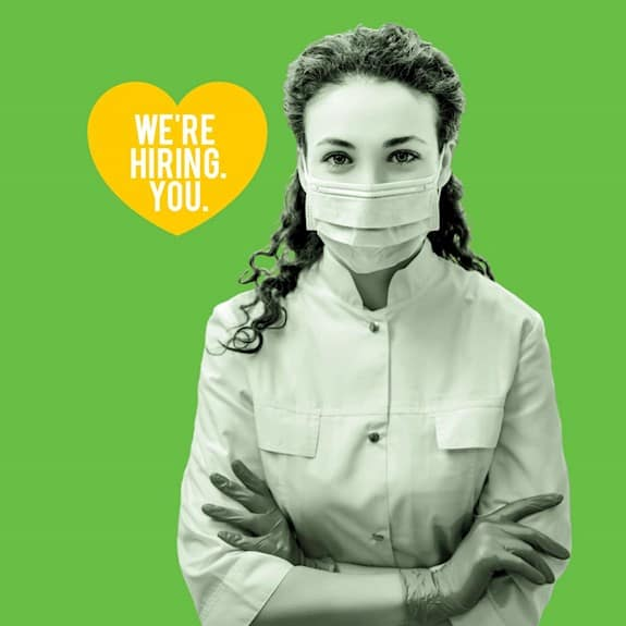 Join our team. Caregivers wanted.