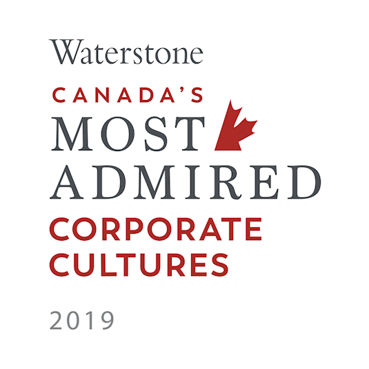 Logo: Waterstone Canada's Most Admired Corporate Cultures 2019