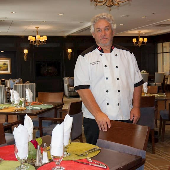 Stephen Cyr, Director of Culinary Services at Revera's The Williamsburg Retirement Residence in Burlington, ON
