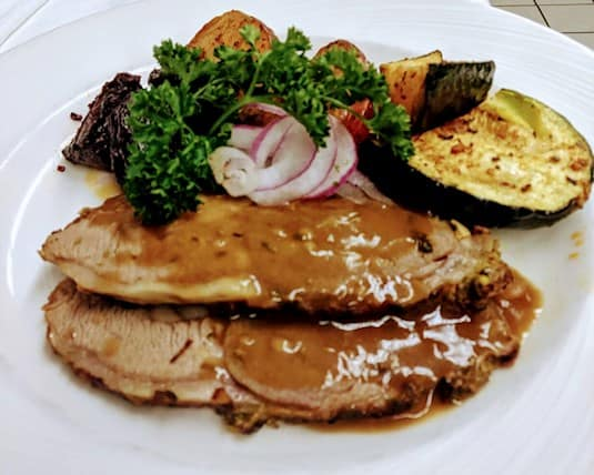 Irish-style lamb with Guinness and caper gravy