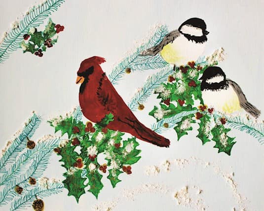 Holiday Card, Valleyview - Birds and holly