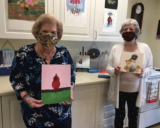 The monthly paint nights are among the most popular activities at Stittsville Villa & Manor.