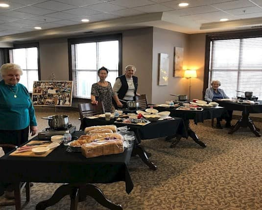 Birkdale Place held a Master Chef competition with their residents' culinary creations being judged by Cathy and other culinary team members.
