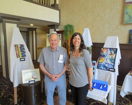 The Kensington Victoria is full of artistically creative people and their art was put on full display during a resident art show.