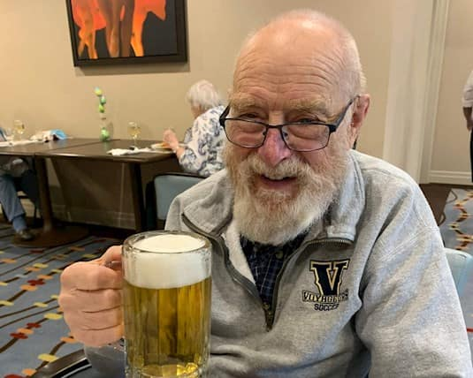 Residents enjoy a pint without having to leave to go to the pub.