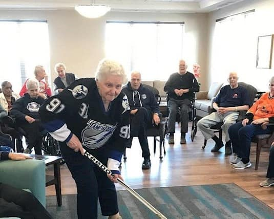 For Hockey Day in Canada 2020, residents at Birkdale Place showed off their skills and competitive spirit in a shootout contest