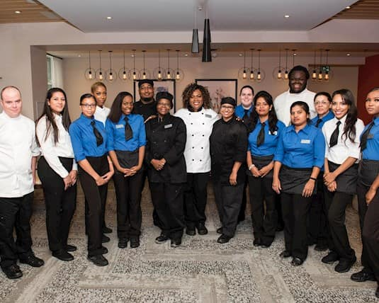 Alicia Briscoe and her culinary team at Westney Gardens Retirement Residence in Ajax, Ontario.