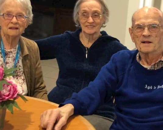 Now residents at River Ridge Retirement Residence, Cécile, Gabrielle and Albert enjoy spending their time together once again.