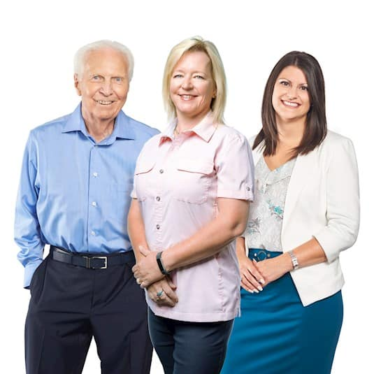 Dennis, Dr. Collins and Cathy