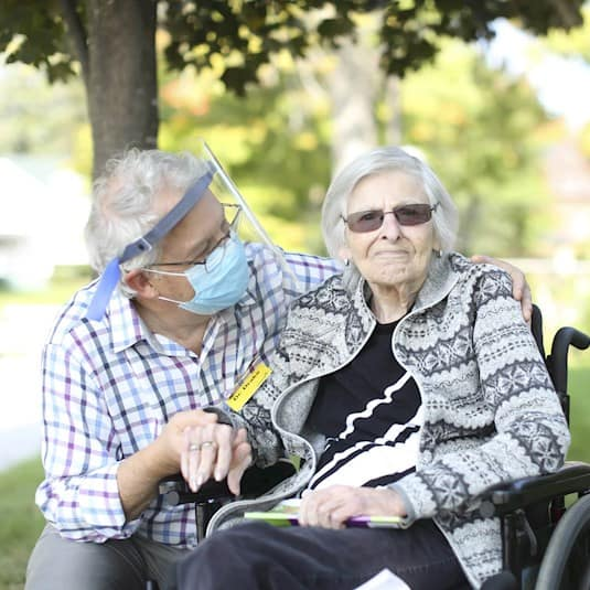 Dr. Drake and a long term care resident