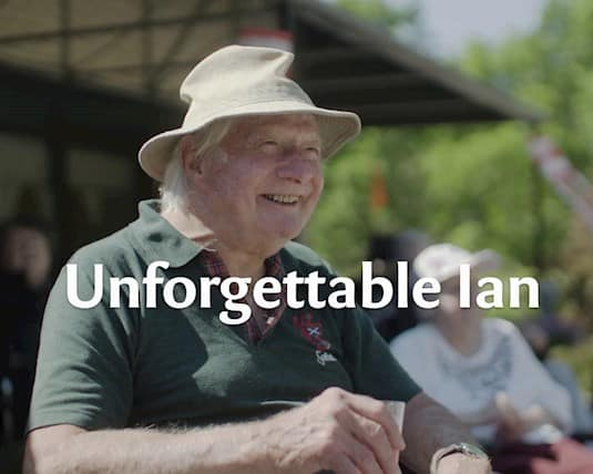 Ian, a resident in a long term care home