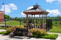 Outdoor Arbour Heights courtyard with Gazebo