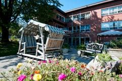 Outdoor patio space at Eagle Terrace Long Term Care home, New Market