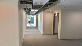 Elmwood Place Long Term Care Home Redevelopment, London, Construction photo of hallway from May 202