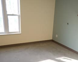 Elmwood Place Long Term Care Home Redevelopment, London, Construction photo of a resident room from May 202