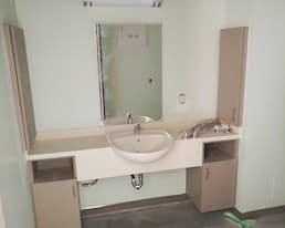 Elmwood Place Long Term Care Home Redevelopment, London, Construction photo of resident washroom from May 202