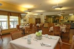 Dining room at McGarrell Place Long Term Care home, London