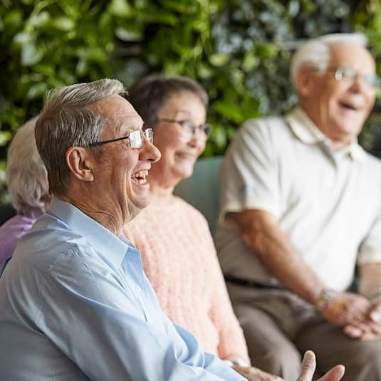 A group of seniors laughing together