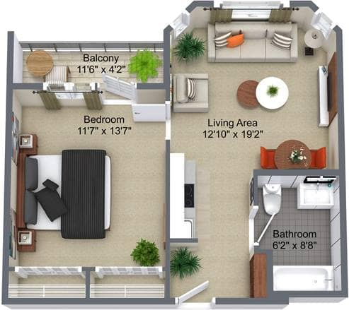 Aspen Ridge 1 Bedroom