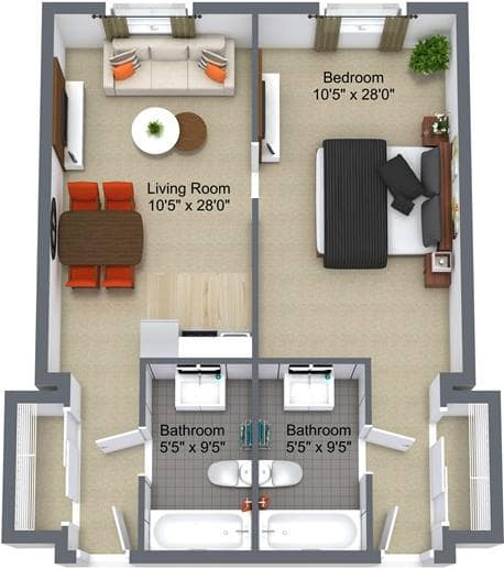 Briargate 1Bedroom