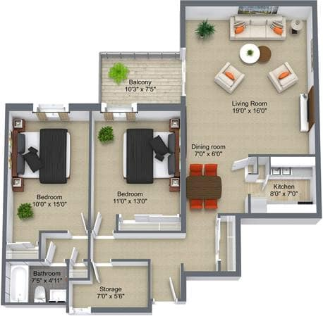 Brierwood Gardens, 2Bedroom