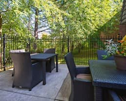 Patio, Brookside Court, Richmond Hill