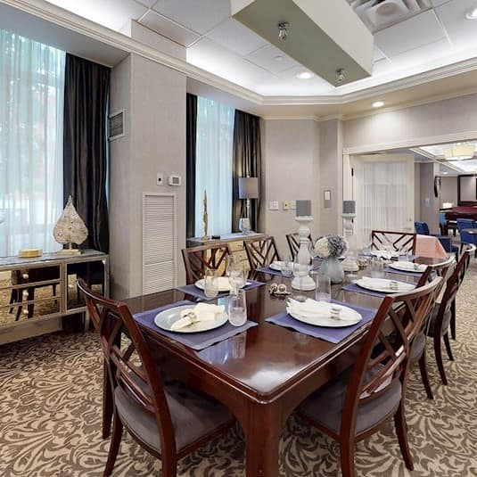 Private Dining Room and Lounge, Churchill Place Retirement Residence, Oakville