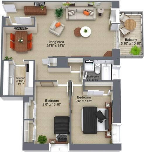 Don Mills SA 2Bedroom