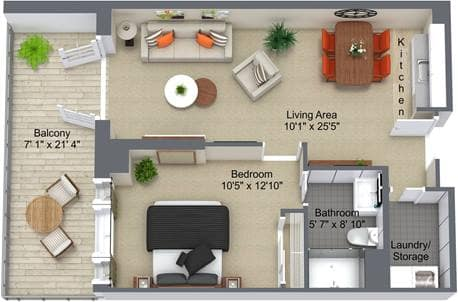 Granite Landing 1 Bedroom