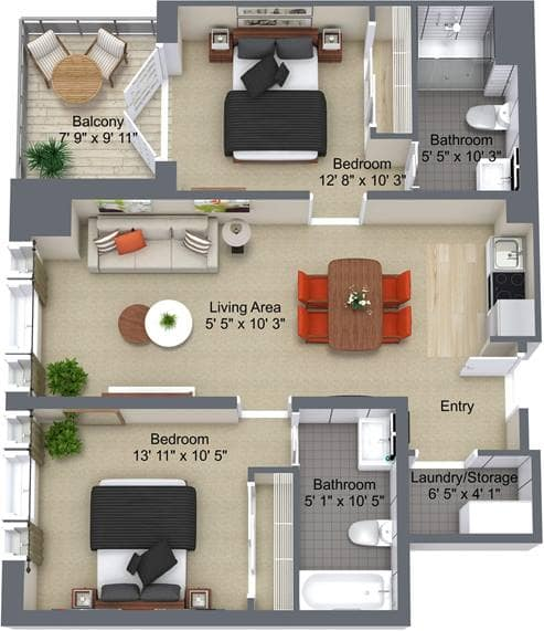 Granite Landing2 Bedroom