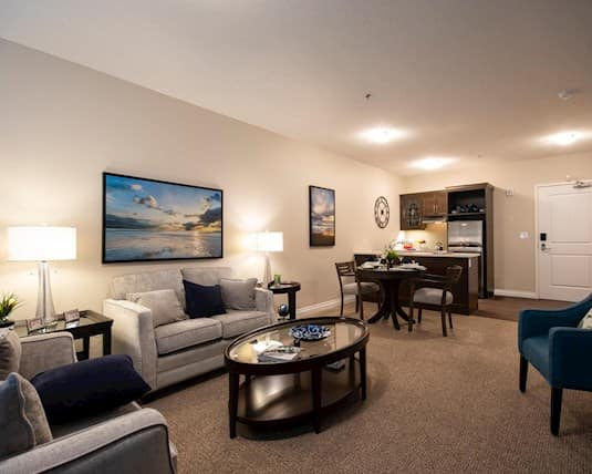 Model Suite Living Room, Green Falls Landing, Regina