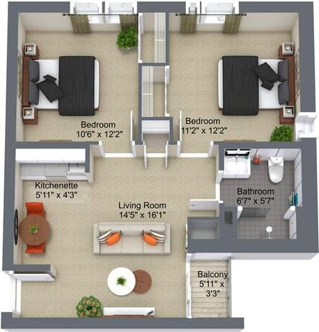 Greenway 2 Bedroom