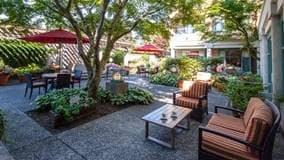 Patio, Hollyburn House, West Vancouver