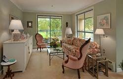 Model Suite, Living Room, Hollyburn House, West Vancouver