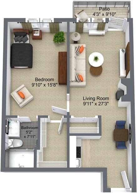 Landmark Court 1 Bedroom