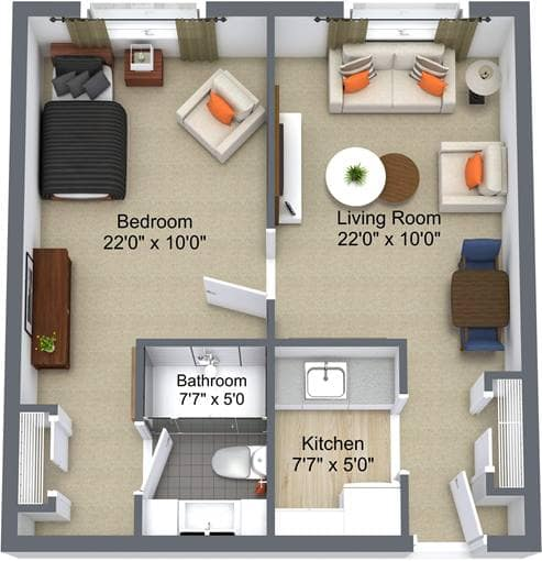 Maplecrest Village 1 Bedroom
