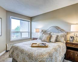 Model Suite, Bedroom, McKenzie Towne, Calgary