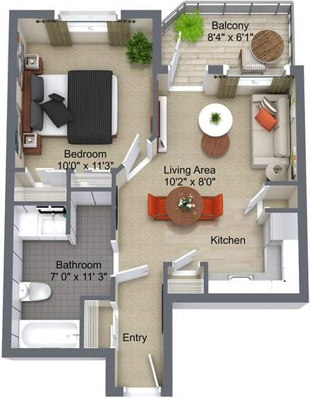 McKenzie Towne 1 Bedroom