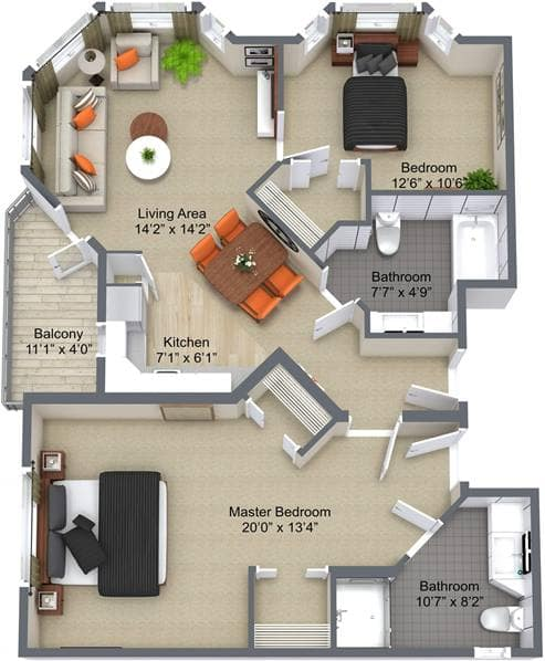 McKenzie Towne 2 Bedroom