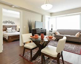1-Bedroom Model Suite - Living Room, Our Parents' Home Retirement Residence, Edmonton