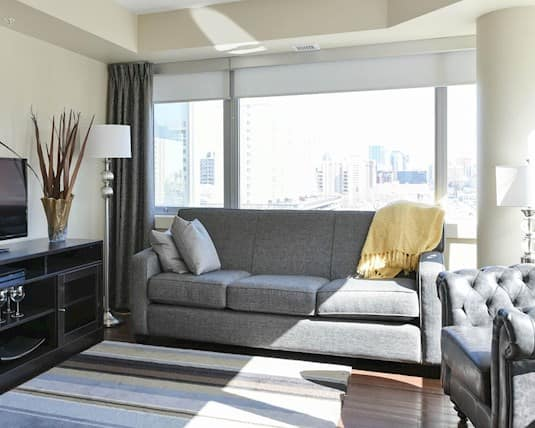 2-Bedroom Model Suite - Living Room, Our Parents' Home Retirement Residence, Edmonton
