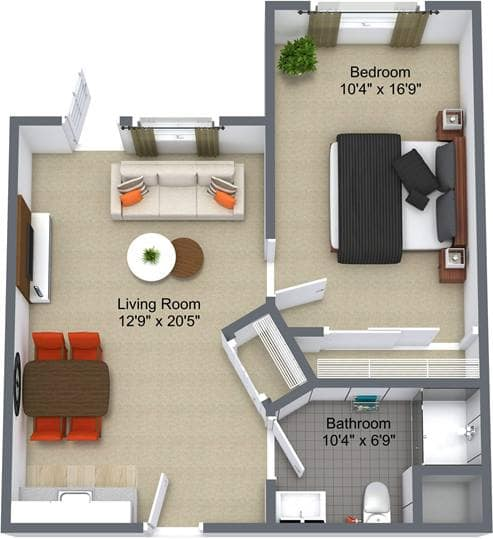 Parkwood Manor 1 Bedroom