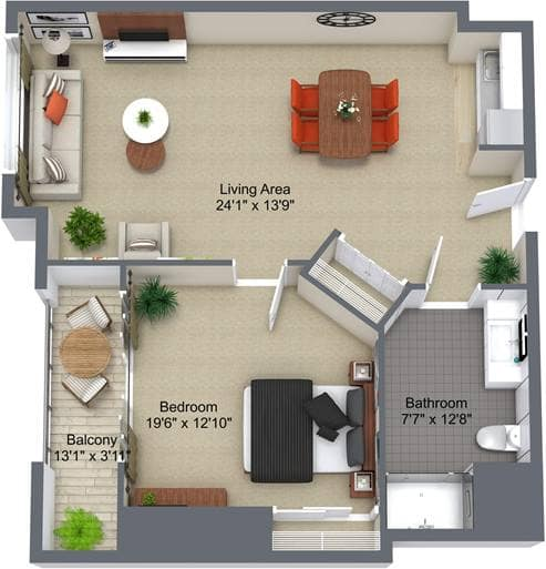 Parkwood Place 1Bedroom