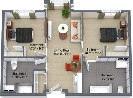 River Ridge 2 Bedroom