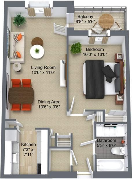 Summit Place 1 Bedroom