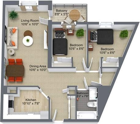 Summit Place 2 Bedroom