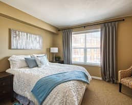 Model Suite, Bedroom, The Bentley Hillsdale, Regina