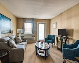 Model Suite, Living Room, The Bentley Hillsdale, Regina