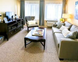 Model Suite, Living Room, The Bentley Yorkton